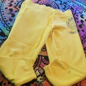 Victoria's Secret Pink Yellow Crop Sweat Pants